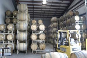 Barrels from Russian River Brewing.