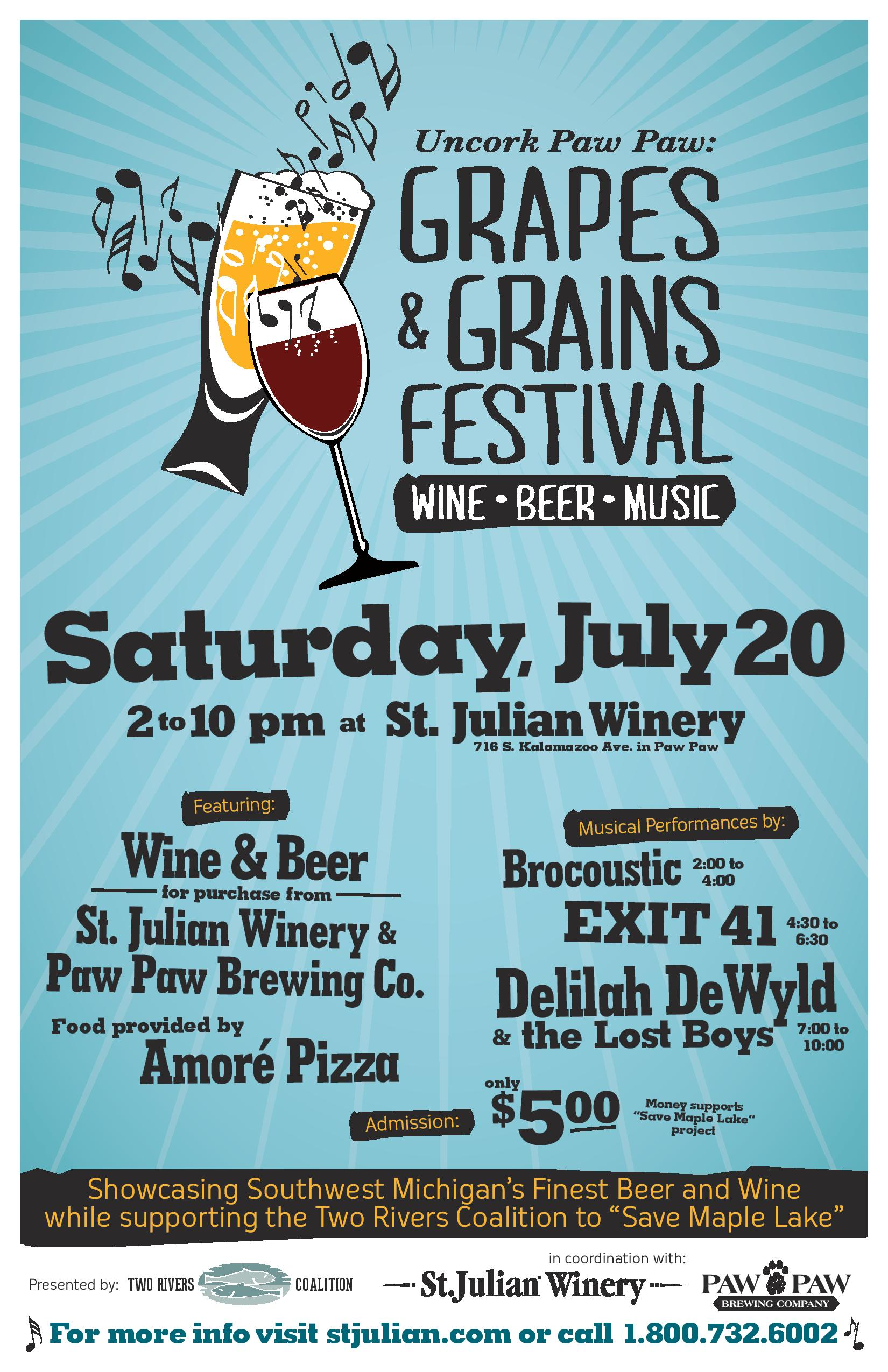 Paw Paw Brewing Company And St Julian Winery Host Music