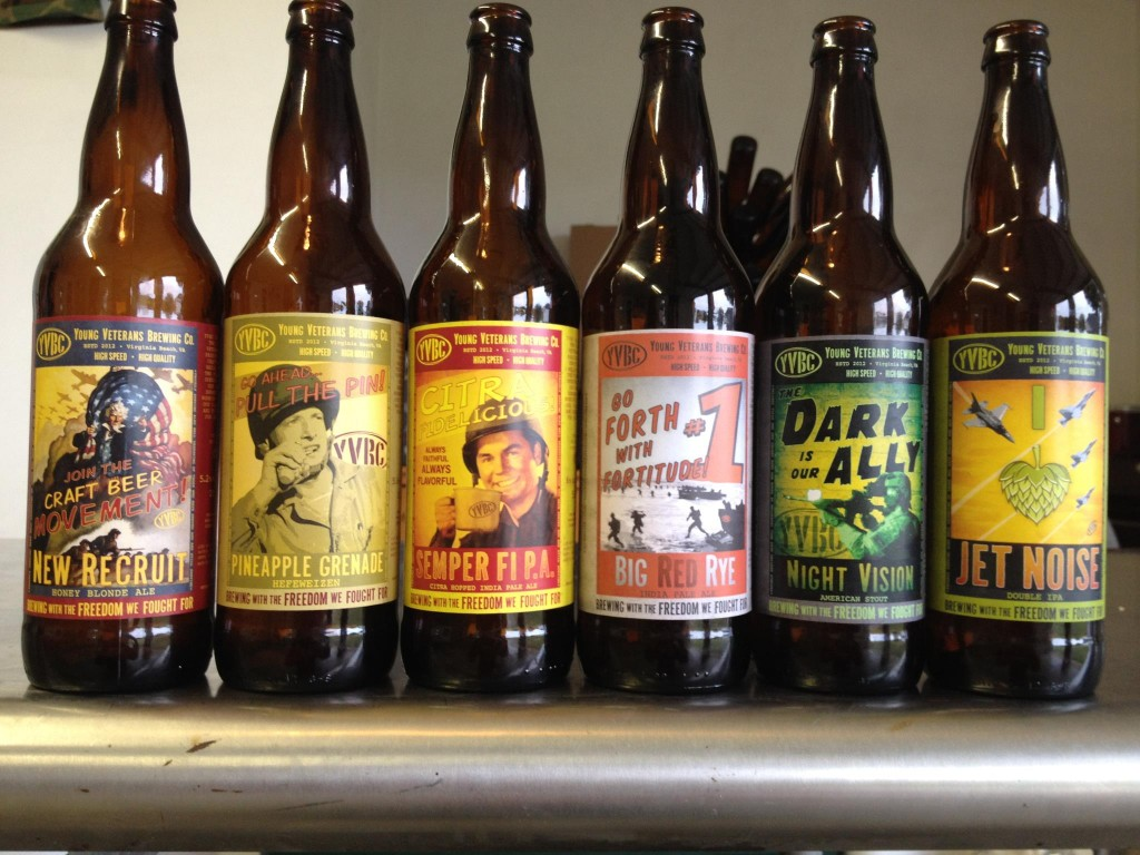 Beers from Young Veterans Brewing Company