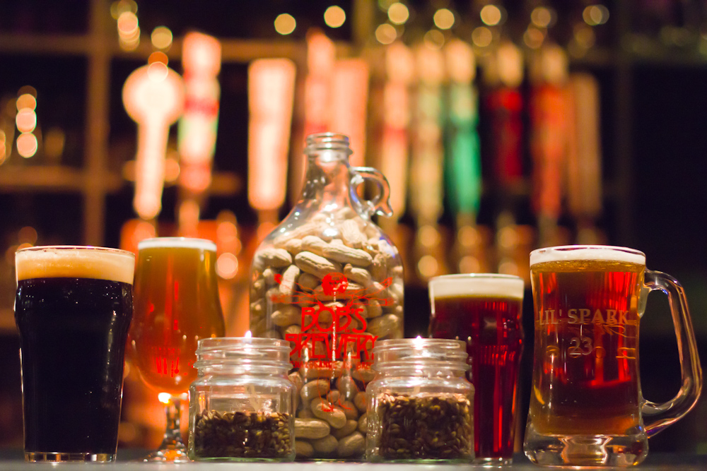 craft beers at B.O.B.'s Brewer