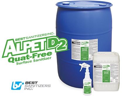 Best Sanitizers, Inc  Introduces New Alpet D2 Quat-Free